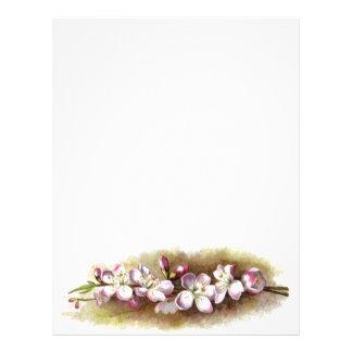 Cabeçalho do papel de carta das flores de Apple do