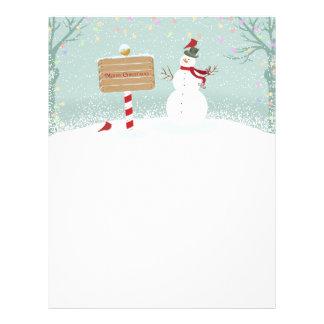 Cabeçalho do Pólo Norte do boneco de neve do Natal Papel Timbrado