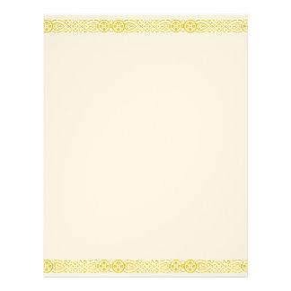 Cabeçalho filigrana de Nouveau da arte do ouro Modelo De Papel De Carta