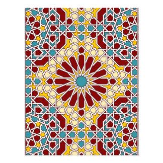 Cabeçalho geométrico islâmico do teste padrão papel timbrado