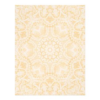 Cabeçalho nupcial barroco do laço do ouro modelo de papel de carta