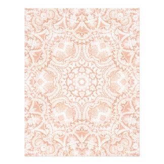 Cabeçalho nupcial europeu cor-de-rosa do laço papel de carta