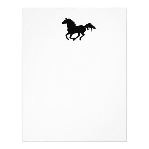 Cabeçalho/papel para cartas de galope do cavalo papel de carta personalizados