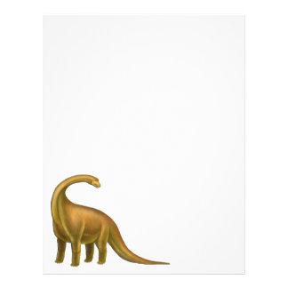 Cabeçalho pré-histórico do dinossauro do papel de carta personalizados