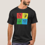 Cabeças de Econ - Mises, Hayek, Rothbard, Friedman Camiseta