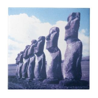 Cabeças de Moai da Ilha de Páscoa