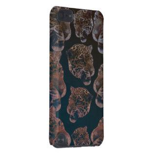 Cabeças do leopardo do estilo do vintage capa para iPod touch 5G