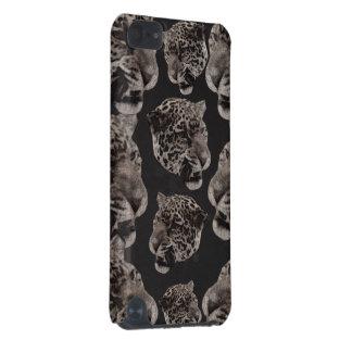 Cabeças do leopardo do Grunge de Black&White Capa Para iPod Touch 5G