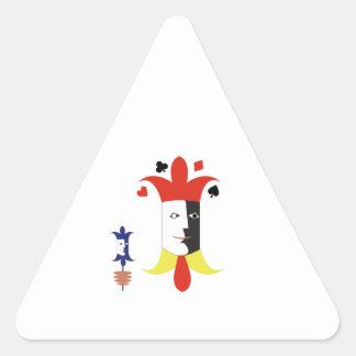 Cabeças do palhaço adesivo triangular