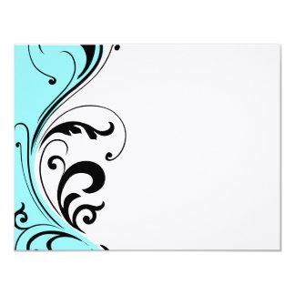 Cabeleireiro à moda Notecards Convite 10.79 X 13.97cm