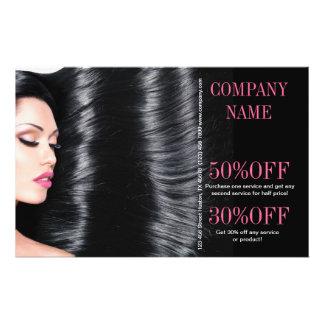 cabeleireiro chique moderno do salão de beleza panfletos coloridos