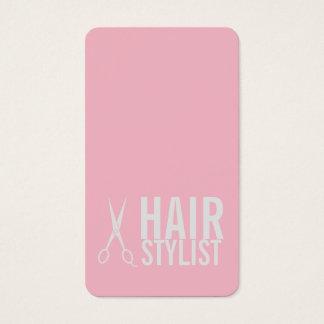 Cabeleireiro cor-de-rosa - luz - tesouras cartão de visitas