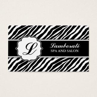 Cabeleireiro do cabeleireiro do impressão da zebra cartão de visitas