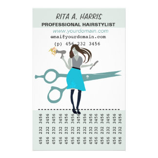 Cabeleireiro do Hairstylist do salão de beleza Panfletos Personalizado
