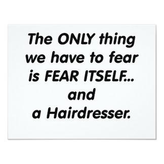 cabeleireiro do medo convite 10.79 x 13.97cm