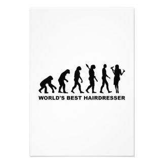 Cabeleireiro do mundo da evolução o melhor