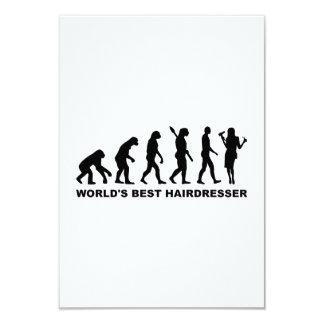 Cabeleireiro do mundo da evolução o melhor convites personalizado