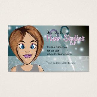 cabeleireiro dos desenhos animados cartão de visitas