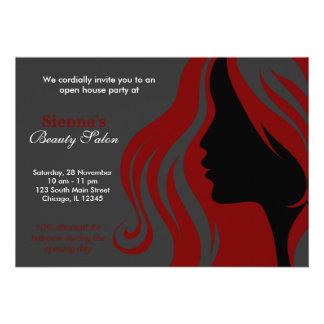 Cabeleireiro obscuridade - vermelho convite personalizado