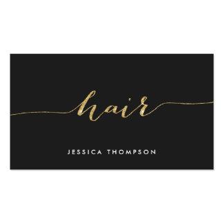 Cabeleireiro preto elegante do salão de beleza do cartão de visita