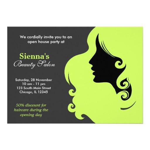 Cabeleireiro (verde azeitona escura) convites personalizados