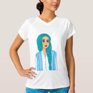 Cabelo azul camiseta
