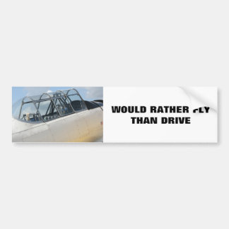 Cabina do piloto de avião militar do vintage adesivo para carro