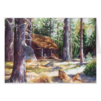 """Cabine 7"""" de Lake Tahoe do cartão X 5"""""""