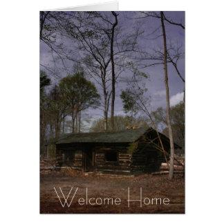 Cabine da aposentadoria, casa bem-vinda cartão comemorativo