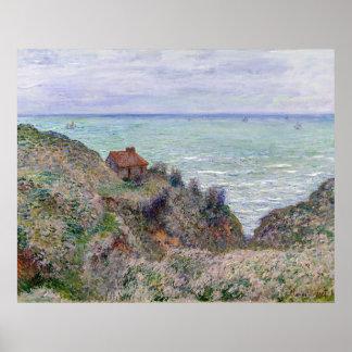 Cabine de Claude Monet do relógio da alfândega Pôster