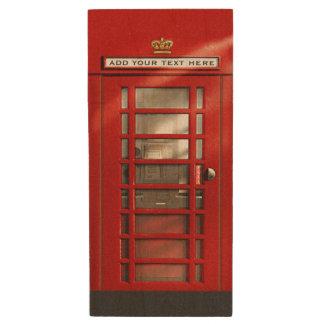 Cabine de telefone britânica vermelha clássica pen drive de madeira