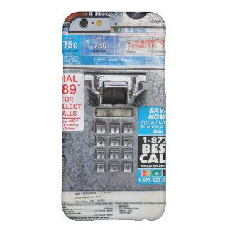Cabine de telefone público engraçada do pagamento capa barely there para iPhone 6