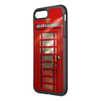 Cabine de telefone vermelha britânica da cidade de capa para iPhone 7 plus OtterBox symmetry