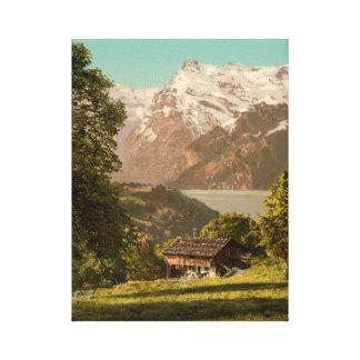 Cabine nas montanhas impressão em canvas
