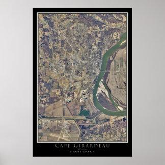 Cabo Girardeau Missouri da arte do satélite do Poster