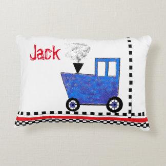 Caboose do trem dos azuis bebés almofada decorativa