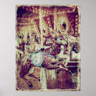 Cabra do carrossel do Grunge Posteres