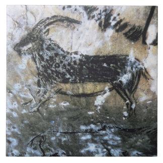 Cabra ou cabra-montesa, pintura da rocha na sala