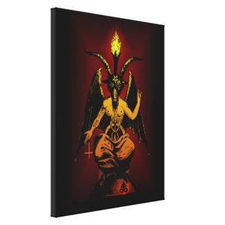 Cabra satânica em canvas esticadas
