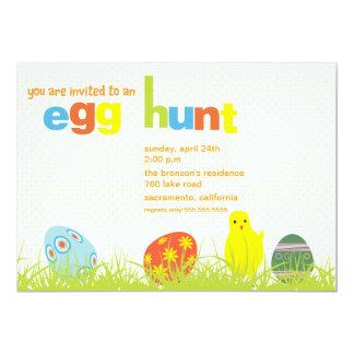 Caça do ovo - convite de festas da páscoa