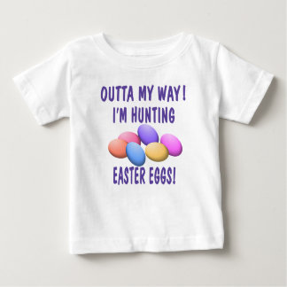 Caça do ovo da páscoa camiseta para bebê