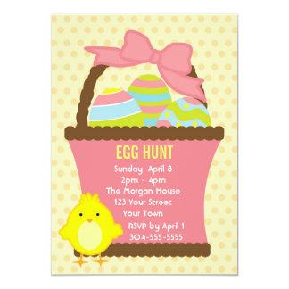 Caça do ovo da páscoa convites personalizados