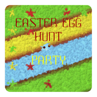 Caça escondida da mulher do ovo da páscoa convites