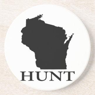 Caça Wisconsin Porta Copos De Arenito