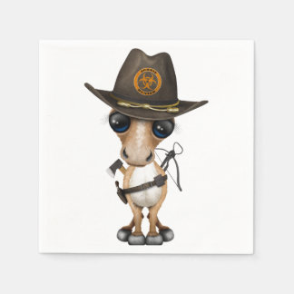 Caçador bonito do zombi do pônei guardanapo de papel