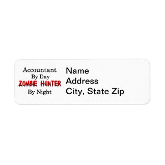 Caçador do contador/zombi etiqueta endereço de retorno