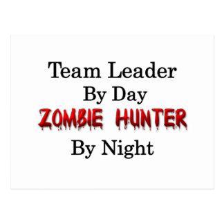 Caçador do líder da equipa zombi
