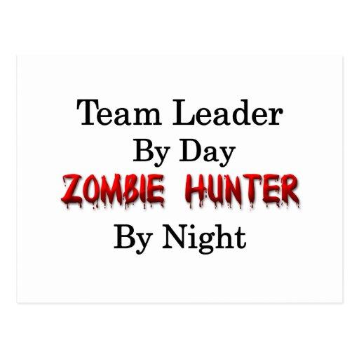 Caçador do líder da equipa/zombi cartão postal