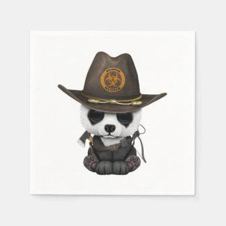 Caçador do zombi do urso de panda do bebê guardanapo de papel
