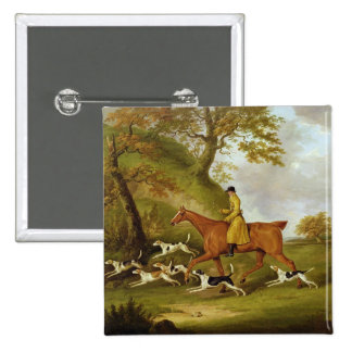 Caçador e cães, 1809 (óleo em canvas) botons